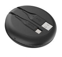 Uniq Halo Type-C adatkábel, 1,2m, fekete