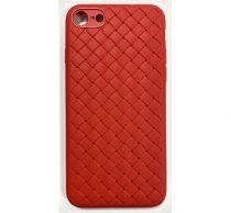 Apple iPhone X Braided szilikon hátlap tok, piros
