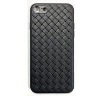 Apple iPhone X Braided szilikon hátlap tok, fekete