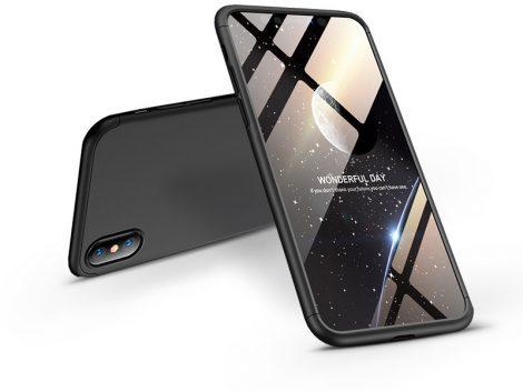 Apple iPhone XS Max hátlap - GKK 360 Full Protection 3in1 - fekete