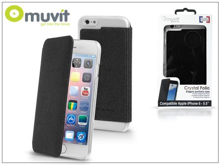 Apple iPhone 6 Plus/6S Plus hátlap - Muvit Crystal Folio - black
