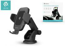 Devia szellőzőrácsba illeszthető vezeték nélküli autós töltő/tartó - 5V/2A - Devia Navigation Wireless Charger Car Mount-10W - Qi szabványos