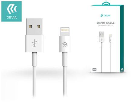 Apple iPhone Lightning USB töltő- és adatkábel 1 m-es vezetékkel - Devia Smart Cable Lightning - white