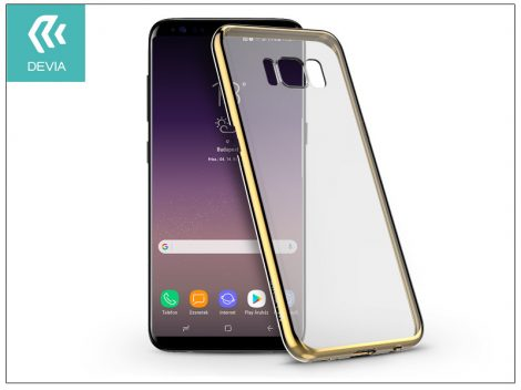 Samsung G955F Galaxy S8 Plus hátlap - Devia Glimmer - champagne gold